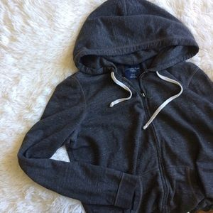 American Eagle Outfitters Tops - AMERICAN EAGLE OUTFITTERS dark grey zip up hoodie