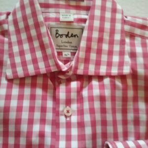 Boden Other - MENS PINK GINGHAM BODEN LONDON SHIRT L/S