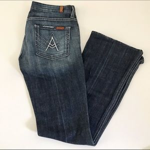 """7 For All Mankind """"A Pocket"""" Denim bootcut jeans"""