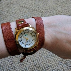La Mer Jewelry - La mer brown leather wrap watch