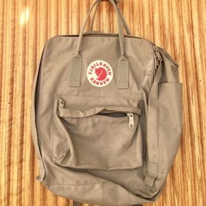 "Fjallraven Handbags - Fjallraven ""The Big One"" Grey Backpack"