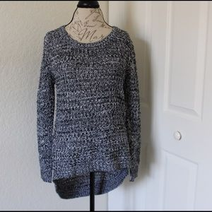 Black and white marble knit sweater