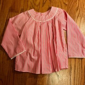 Jacadi Other - Raspberry and white striped Jacadi top