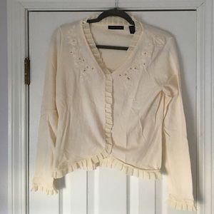 Valerie Stevens Sweaters - Ruffled cardigan
