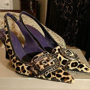 Guess by Marciano Shoes - Guess genuine leather leopard print