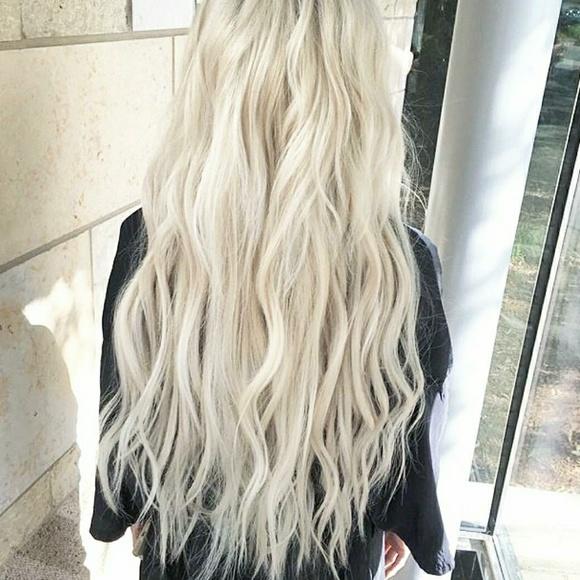 Foxy Locks Accessories Clip In Hair Extensions Platinum Blonde