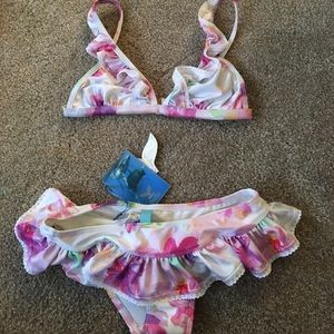 Lisa Blue Other - NWT floral bikini