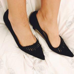 Manolo Blahnik Pointy Toe Kitten heels