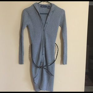Stylish gray sweater coat / small !