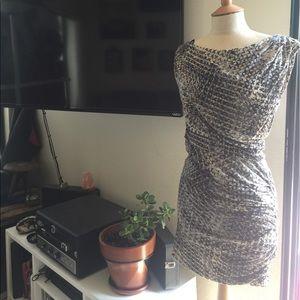 Halston Heritage Asymmetrical dress XS, NWT