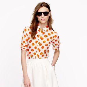 J. Crew Perfect Shirt in Citrus Print