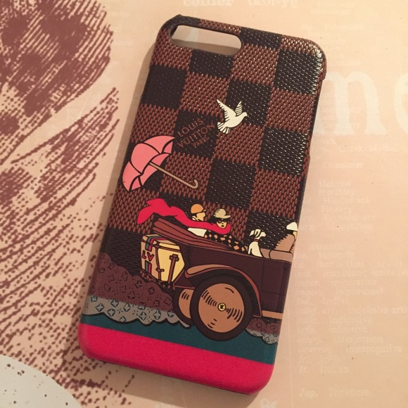 promo code a8312 8873c IPHONE 7 PLUS CASE Louis Vuitton print Boutique