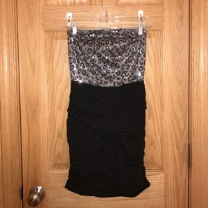 Planet Gold Dresses & Skirts - Black & Silver Sequin Mini Dress