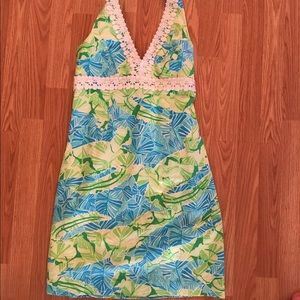 Lilly Pulitzer Cocoa Gator Halter dress  size 6!