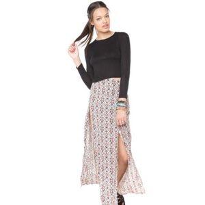 Brandy Melville Dresses & Skirts - Brandy Melville Maxi Slit Skirt