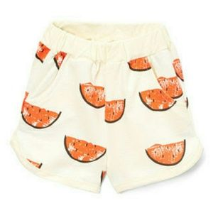 Other - Cream Watermelon Shorts. Kids
