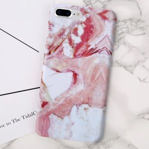 Accessories - GORGEOUS IPHONE 7 8 PLUS PINK MARBLE CASE