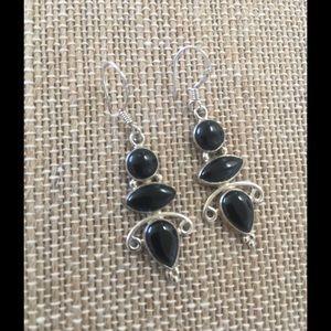 Jewelry - BLACK ONYX STERLING SILVER EARRINGS❤