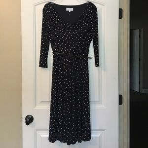 Kasper Dresses & Skirts - Kasper Fit and Flare Dot Print Dress