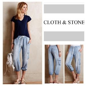 Anthropologie Cloth & Stone Cargo Joggers. NWOT.
