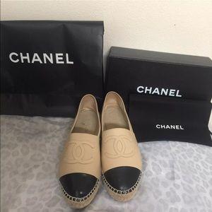 Chanel espadrilles tan double sole 40
