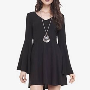 Express Bell Sleeve Fit & Flare Dress