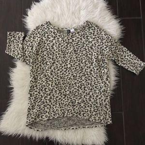 Divided Sweaters - Women's leopard sweater. Leopard sweater.