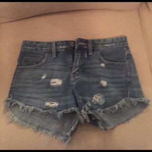 Free people blue jean shorts!