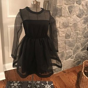 chicwish Dresses & Skirts - Black dress with sheer panels!