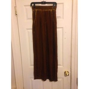 New Zara Dark Golden Yellow Velvet Pants XS