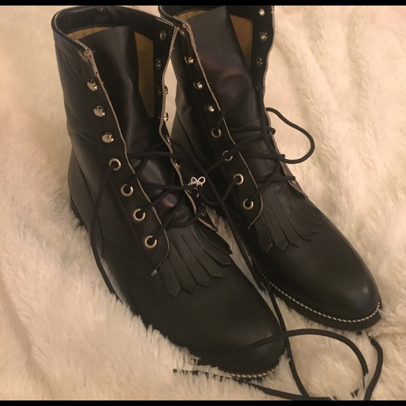 3c703944d6f Vintage Diamond J Leather Combat Boots