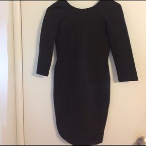 Zara black fitted back cut out dress.