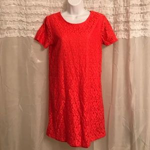 W118 by Walter Baker Dresses & Skirts - Coral Lace Shift Dress