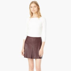 Mango Dresses & Skirts - 🚨SALE🚨Women's Burgundy Leather Slit Hem Skirt