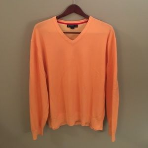 Daniel Cremieux Other - Cremieux | Men's Orange Vneck Sweater