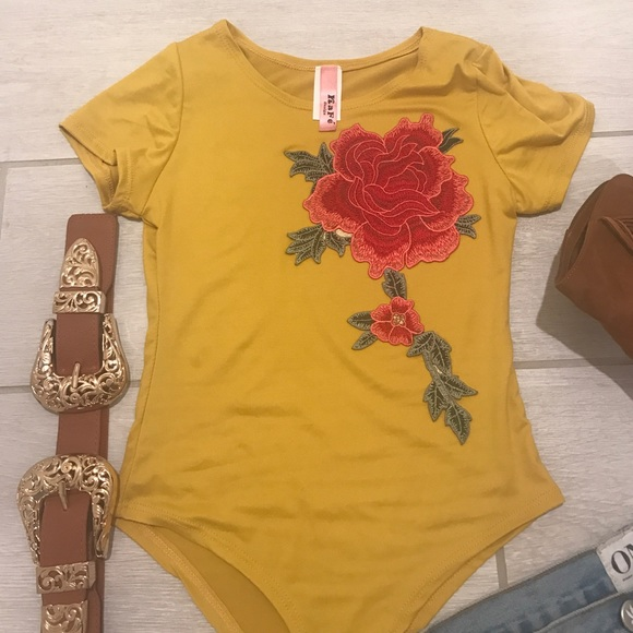 Tops - Flowered one peice Coachella ready!