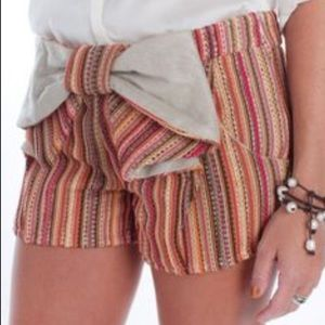 Judith March Pants - Judith March Striped Bow Shorts