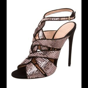 🌈 SOLD 🌈 TOM FORD pink sequin suede sandal