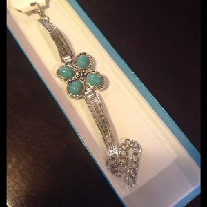 4 for $20 Butterfly pendant turquoise