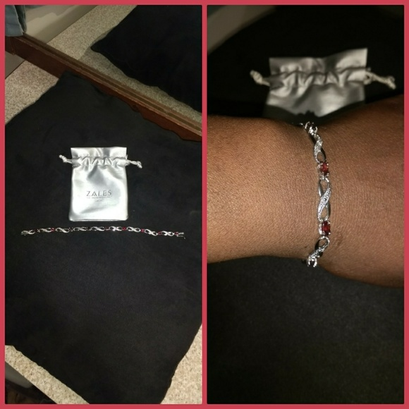 61 off zales jewelry zales ruby silver infinity for Where is zales jewelry