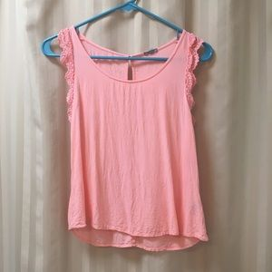 Charlotte Russe Tops - ACCEPTING ALL OFFERS! Sleeveless pink tank blouse