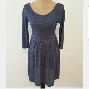 Epilogue Dresses & Skirts - Shimmery blue stretchy pullover dress