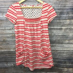Anthropologie Meadow Rue Short Sleeve Striped Top
