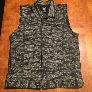 lip service Jackets & Blazers - Mens Kill City Lip Service Camouflage Jean Vest S