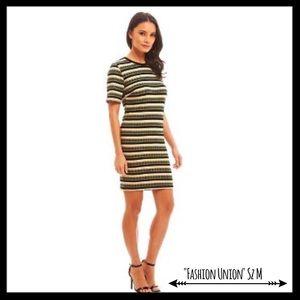 Fashion Union Dresses & Skirts - NWT Fashion Union Multi Striped Ribbed Dress