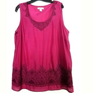 Coldwater Creek Tops - Coldwater Creek 1X (18) Magenta Sleeveless Top