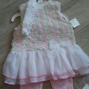 Little Me Other - Little Me dress set 9M