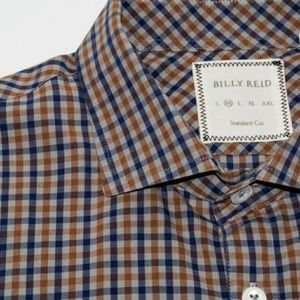 Billy Reid Other - BILLY REID STANDARD CUT button up shirt brown blue