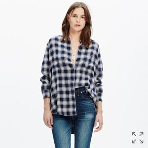 Madewell Tops - Madewell Oversized Shirt in Andover Plaid