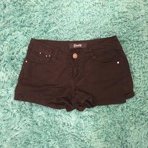 Rewash Pants - 🔴Rewash Black Shorts